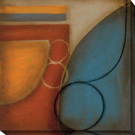 Blue And Orange Ii Canvas Wall Art - Ii, Blue