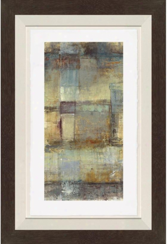 Blue And Tan Abstract Wall Art - Ii, Blue