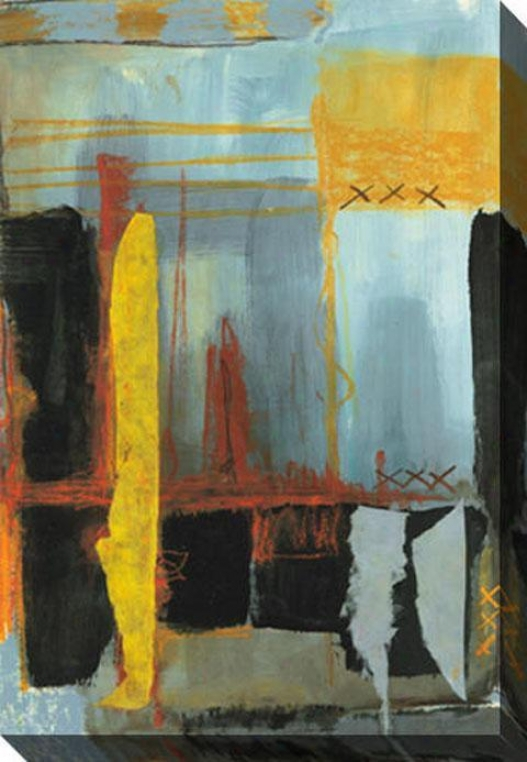 Blue And Yellow I Canvas Wall Art - I, Dismal