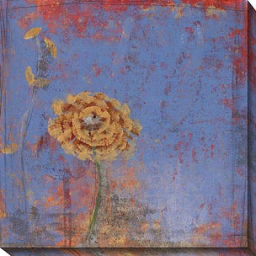 Blue Floral I Canvas Wall Art - I, Blue