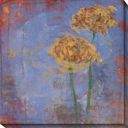 Blue Floral Ii Canvas Wall Art - Ii, Blue