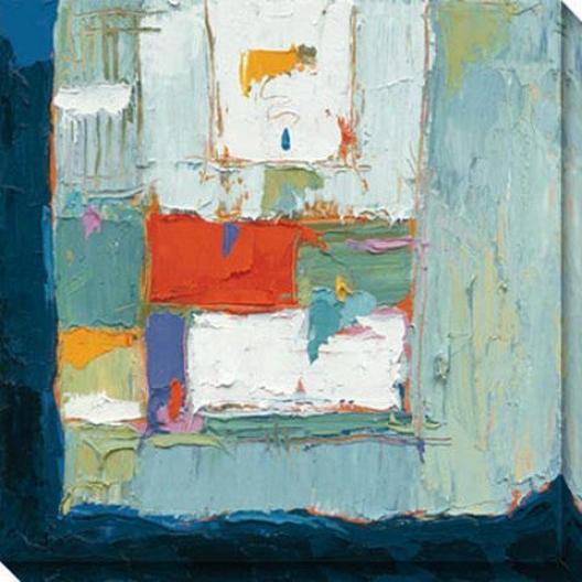 Blue Tear Falling Ii Canvas Wall Art - Ii, Blue