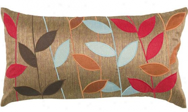 """""""bold Leaves Pillow - 11""""""""h X 21""""""""w, Brown"""""""