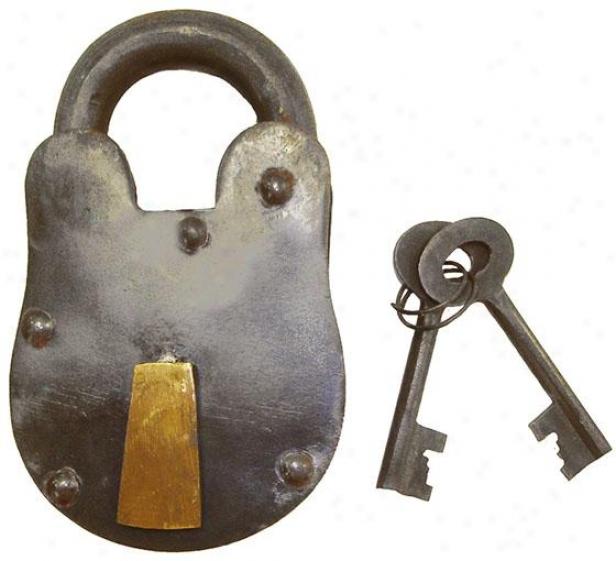 """""""bolt Lock And Key - 2""""""""hx1.25""""""""w, Steel Gray"""""""