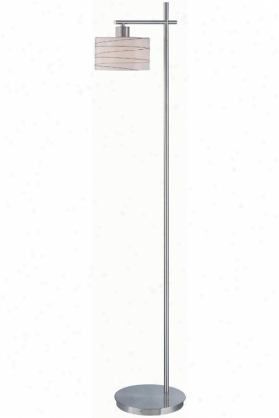 """bond Floor Lamp - 60""""hx14""""d, Silger Chrome"""