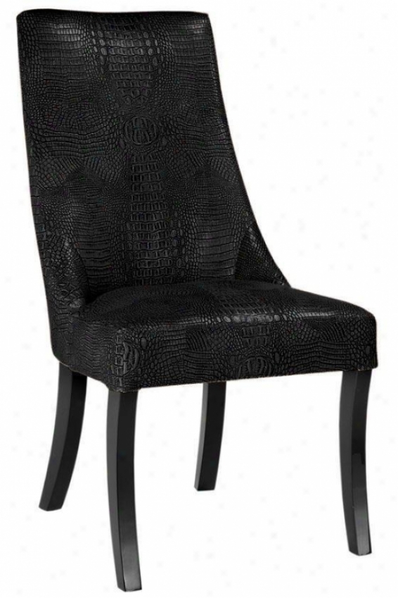 """bond Side Chair - 39.5""""hx21.5""""w, Bycast Lthr Blk"""