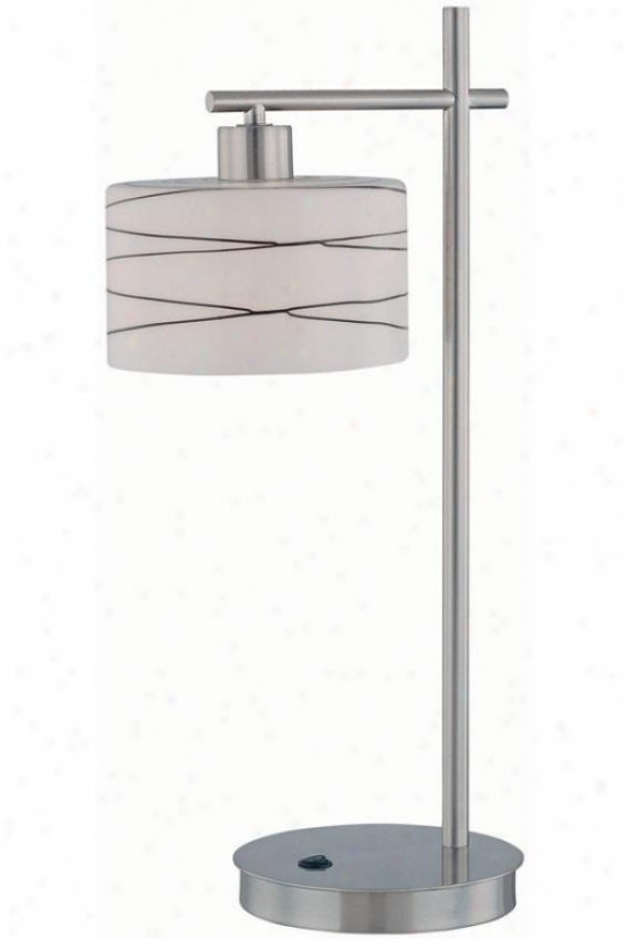 """bond Table Lamp - 24""""hx12""""d, Silver Chrome"""