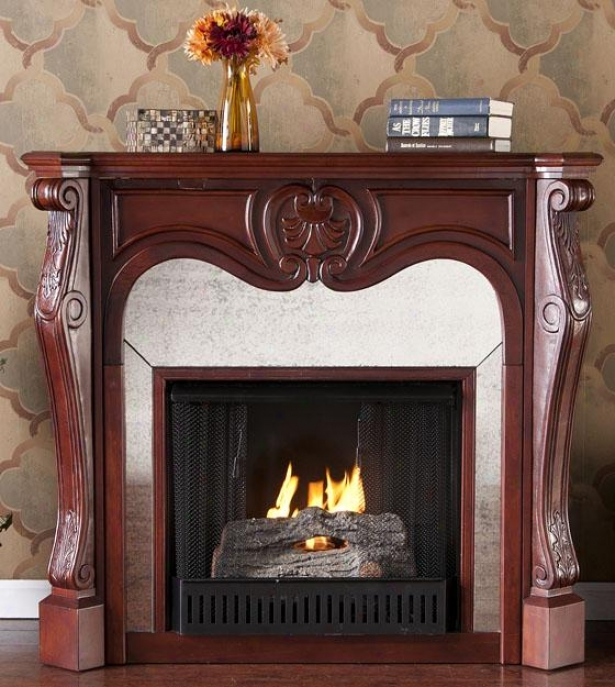 Boston Fireplace - Gel Fireplace, Brick Red