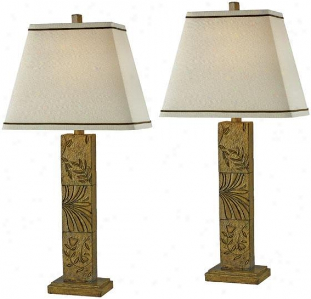"""botanica Table Lamp - Set Of 2 - 27""""h, Toffee"""