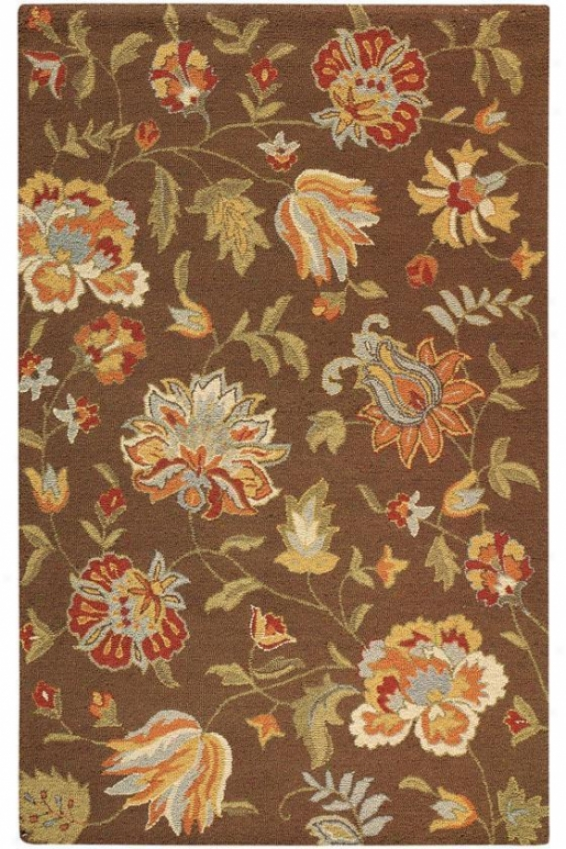 """botanicals Rug - 3'6""""x5'6"""", Brown"""