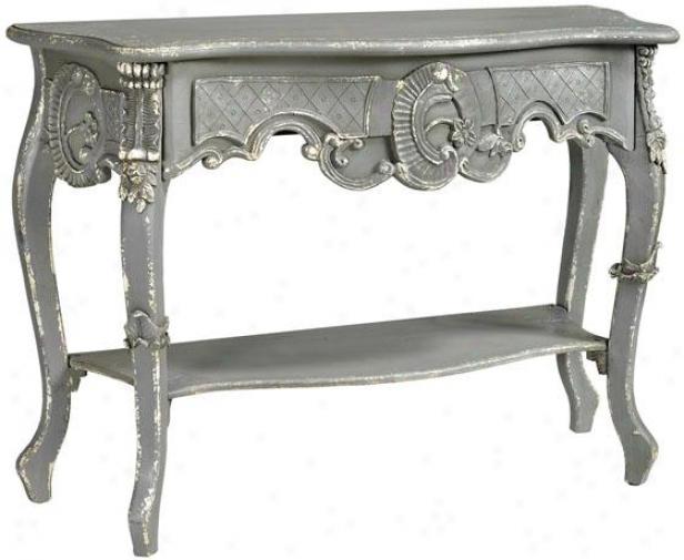 """""""boudreaux Sofa Console Table - 48""""""""x18"""""""", Grey/dist Paint"""""""