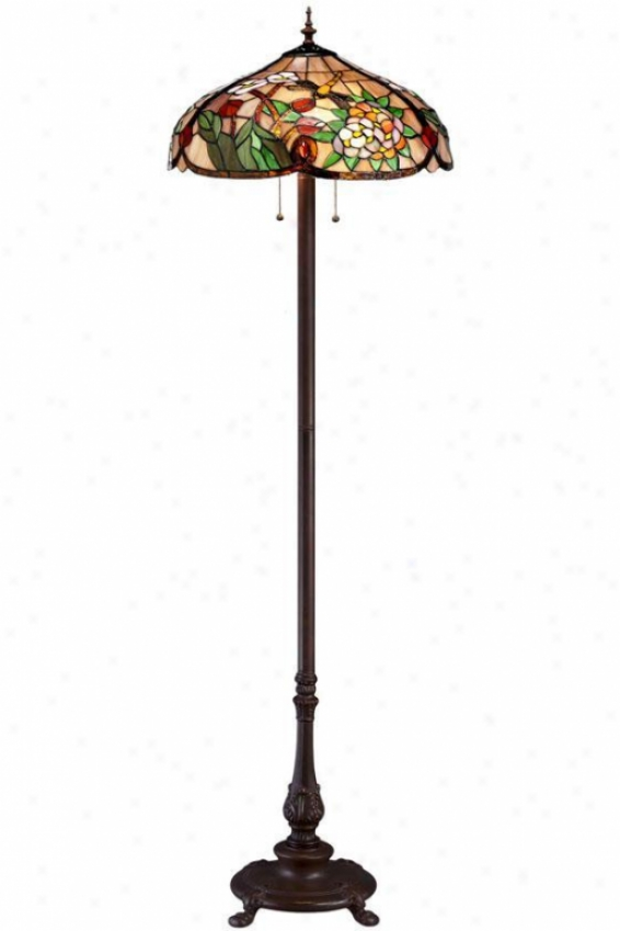 Bouquet Tiffany-style Floor Lamp - Floor Lamp, Red