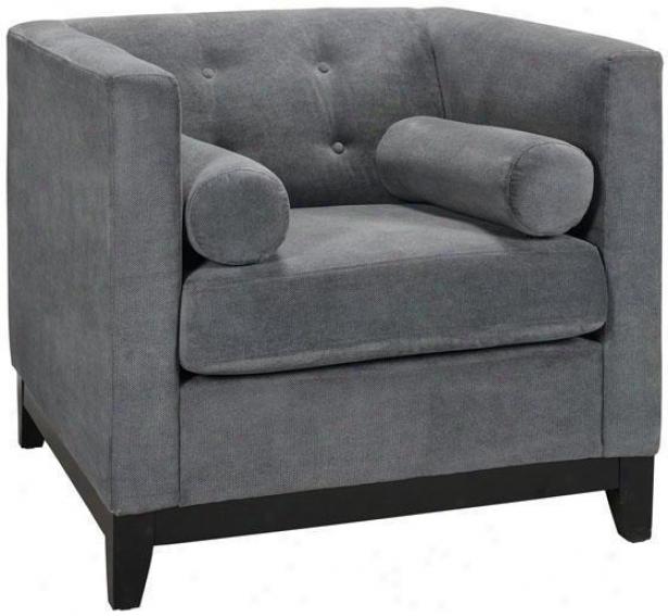 """boxer Tufted Arm Chair - 32""""hx34.75""""w, Blue"""