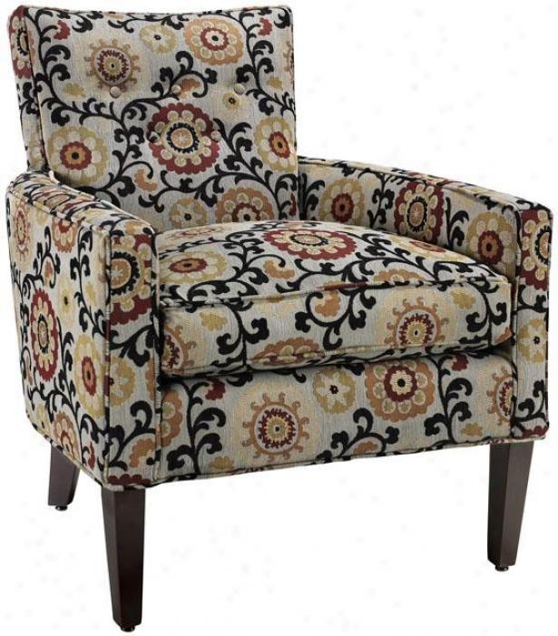 """""""boyd Arm Chair - 36""""""""hx30""""""""w, Modern Floral"""""""