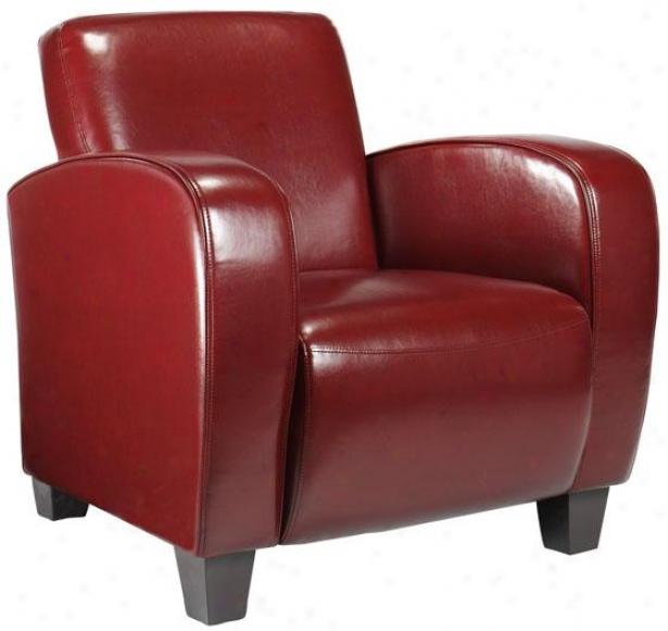 """bradley Club Chair - 33.5""""h, Red"""