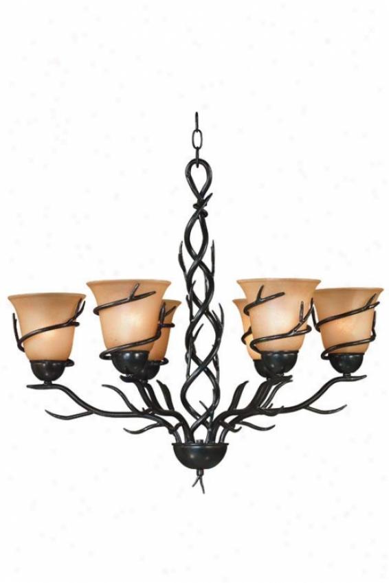 Branches Chandelier - 6-light, Brass