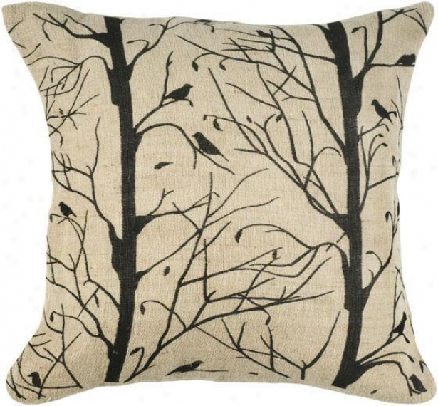 """""""branches Pillow - 18"""""""" Square, Black"""""""