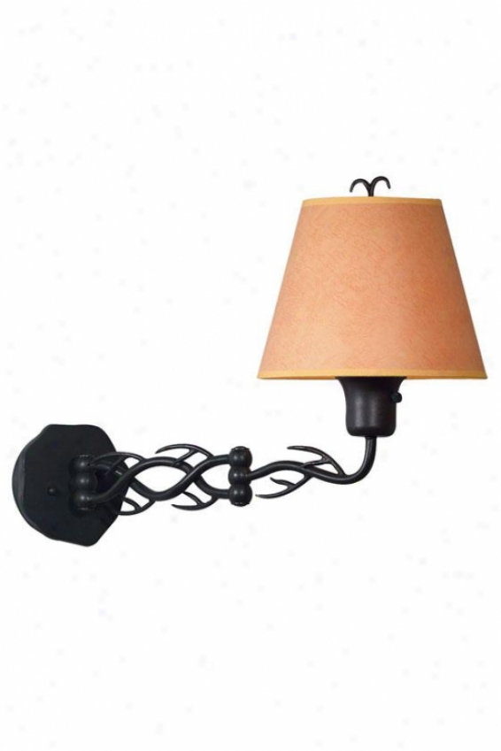 """branches Wall Swing Arm Lamp - 16""""x11"""", Bronze"""