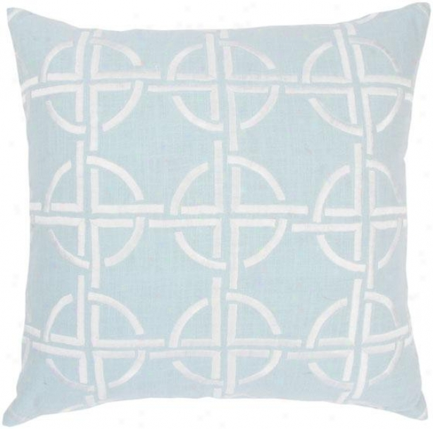 Braxton Pillow - 18hx18w, Blue