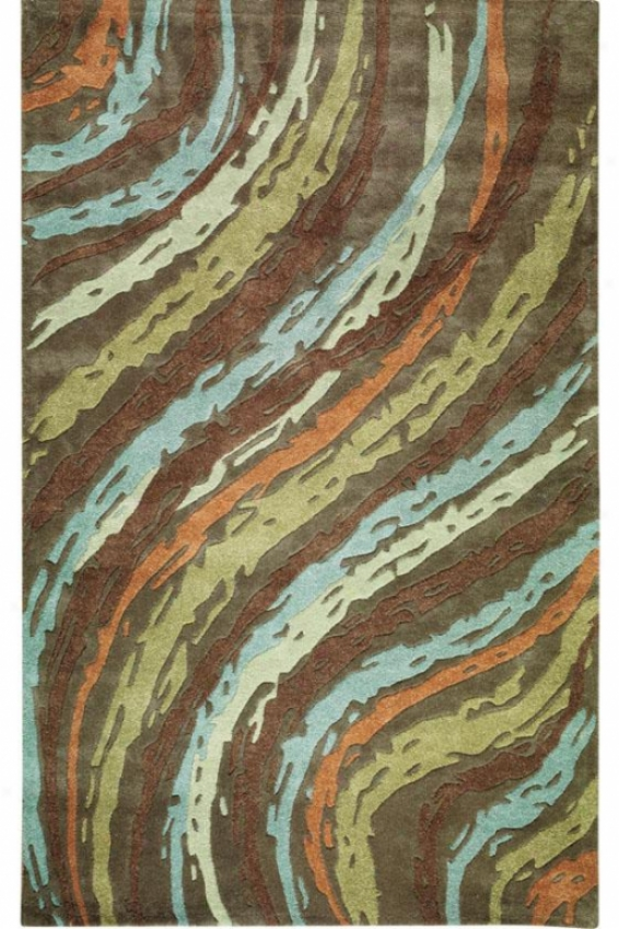 """breaker Area Rug - 3'6""""x5'6"""", Brown"""