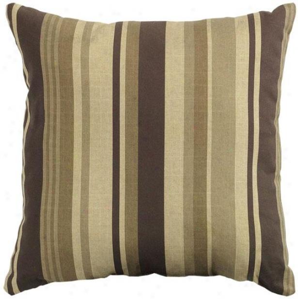 """breezeway Stripe 16"""" Square Outdoor Pillow - 61""""sq Breezeway, Brown"""