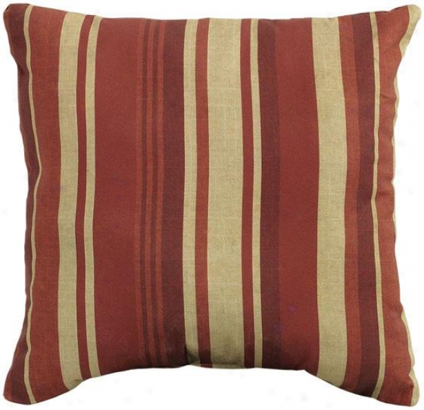 """breezeway Wale 20"""" Square Outdoor Pillow - 20""""sq Breezway, Red"""