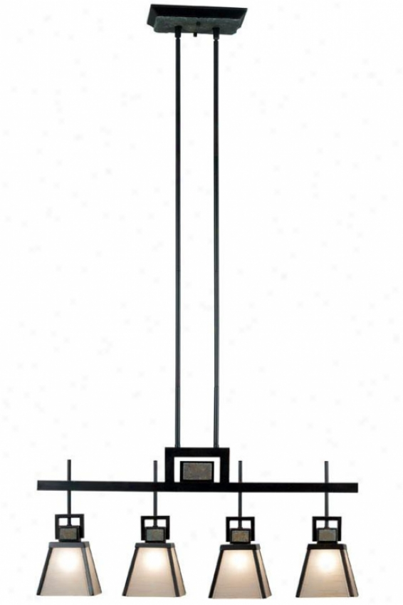 Brennan Island Light - 4-light, Oil Rubbed Bronze