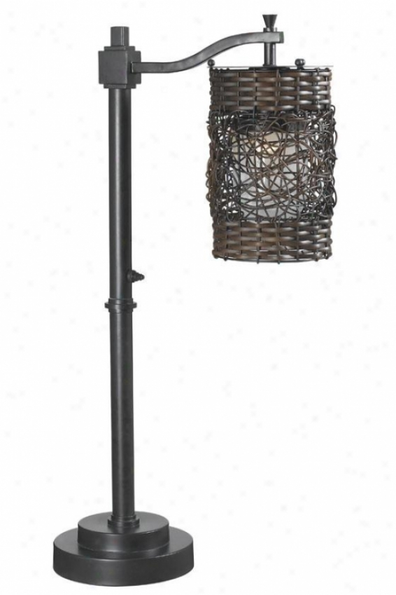 """brent Outdoor Table Lamp - 30""""h X 6""""w, Oil Collision Bronze"""