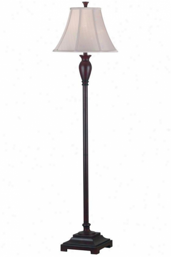 """brevard Floor Lamp - 61""""hx16""""d, Dark Burgundy"""