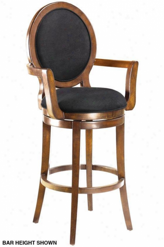 Briarwood Round-back Swivel Counter Stool - Black Microfbr, Tan