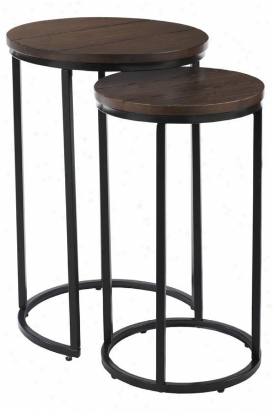 """brickell Accent Table - Set Of 2 - 27""""hx18""""d, An5 Mtl/nt Wood"""