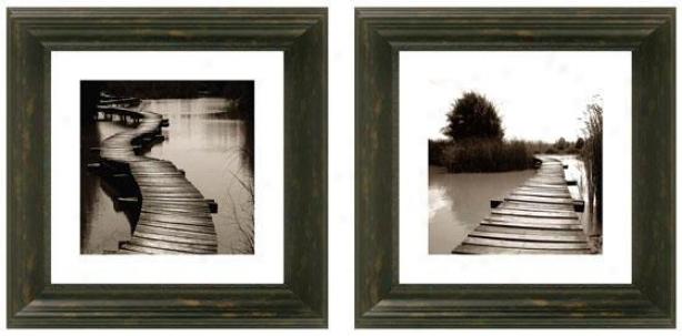 Bridging The Gap Framed Wall Art -S et Of 2 - Set Of Two, Black