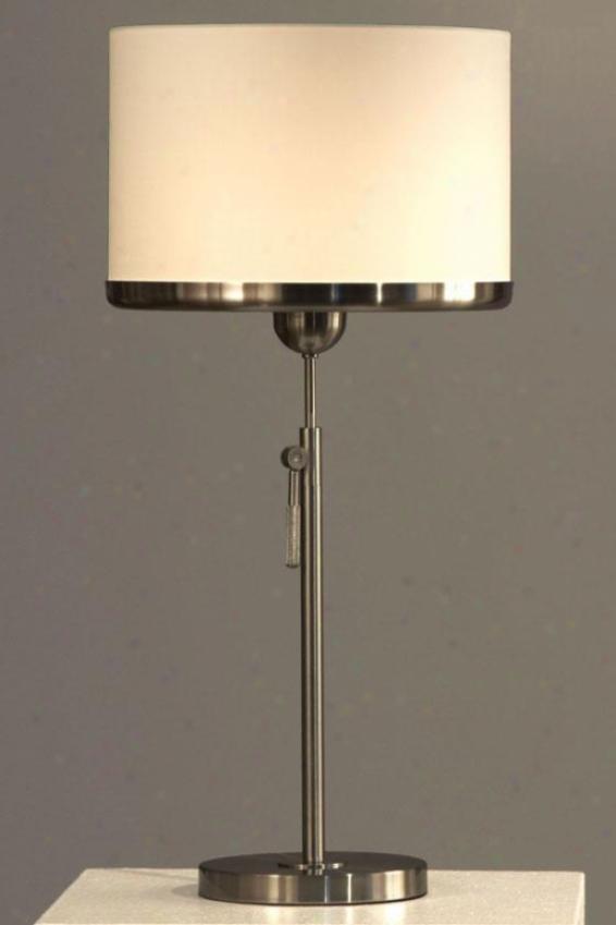 """brim Table Lamp - 30""""hx114""""round, White"""