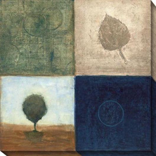 Brisk Scape I Canvas Wall Art - I, Blue