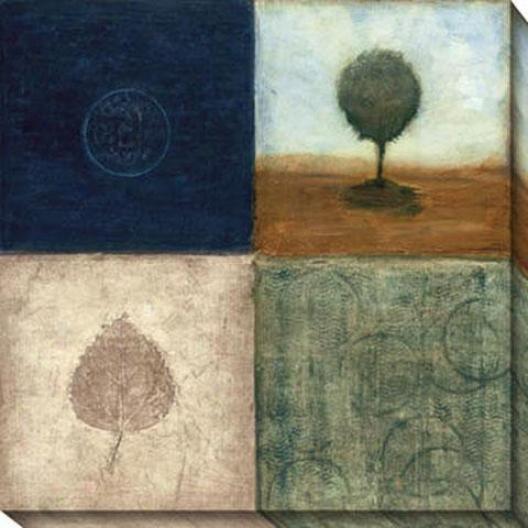 Brisk Scape Ii Canvas Wall Art - Ii, Blue