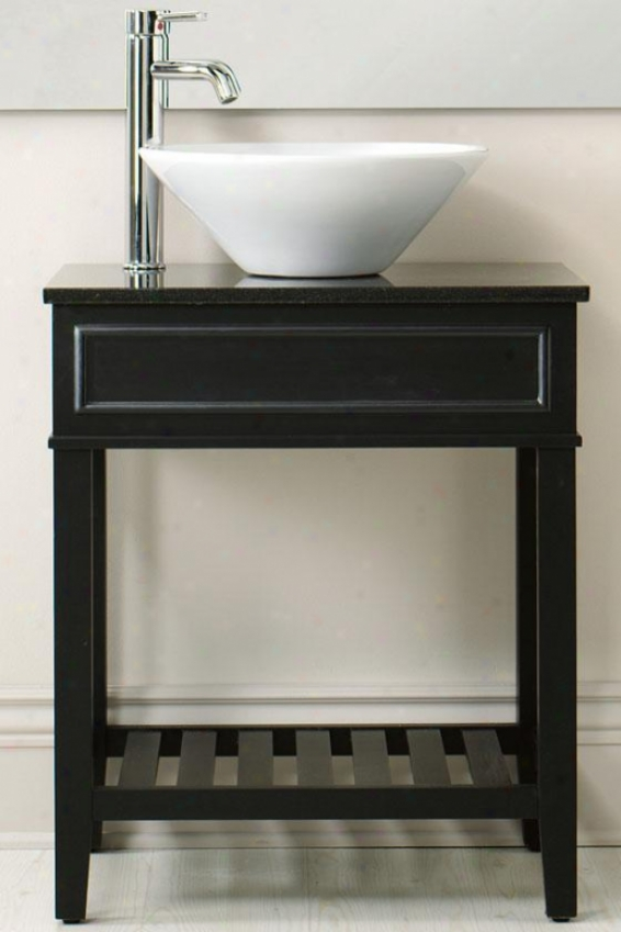 """brock Vanity - 35""""hx24""""w, Black"""