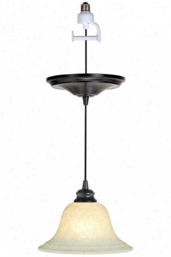 """bronze Instant Pendant Light Conversion Kit - 5""""hx9.5""""d, Scvo/br Brz Adp"""