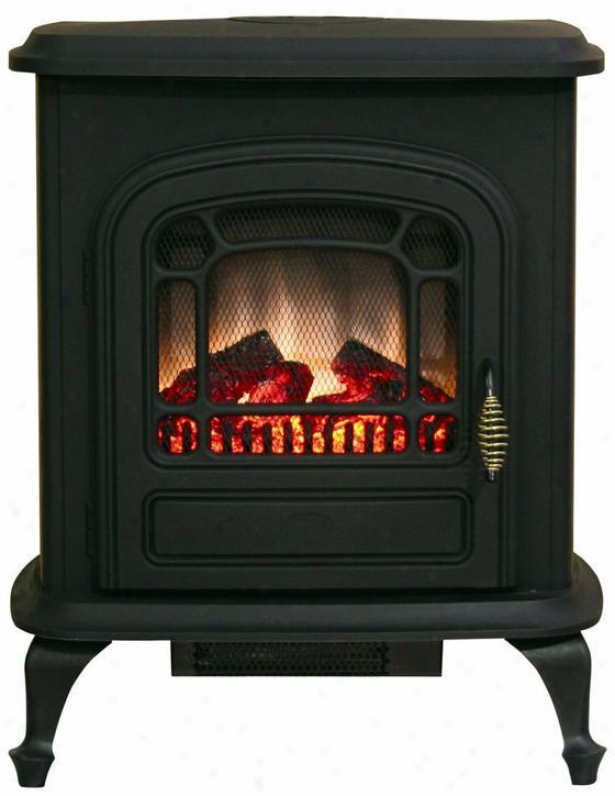 Brooke Electric Stove Fireplace - Metal, Black