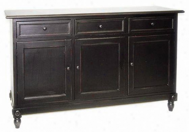 """brookfield Console Cabinet - 36""""hx60""""w, Black"""
