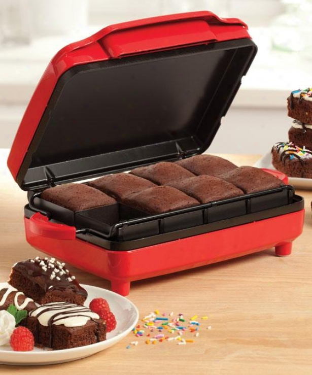 """brownie Creator - 4.5""""hx10""""wx11""""d, Red"""