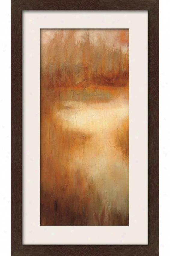 Brownwood Path I Framed Wall Art - I, Matted Espresso