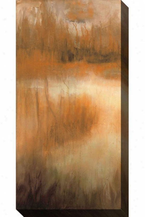 Brownwood Path Ii Canvas Wall Art - Ii, Tan/rus5