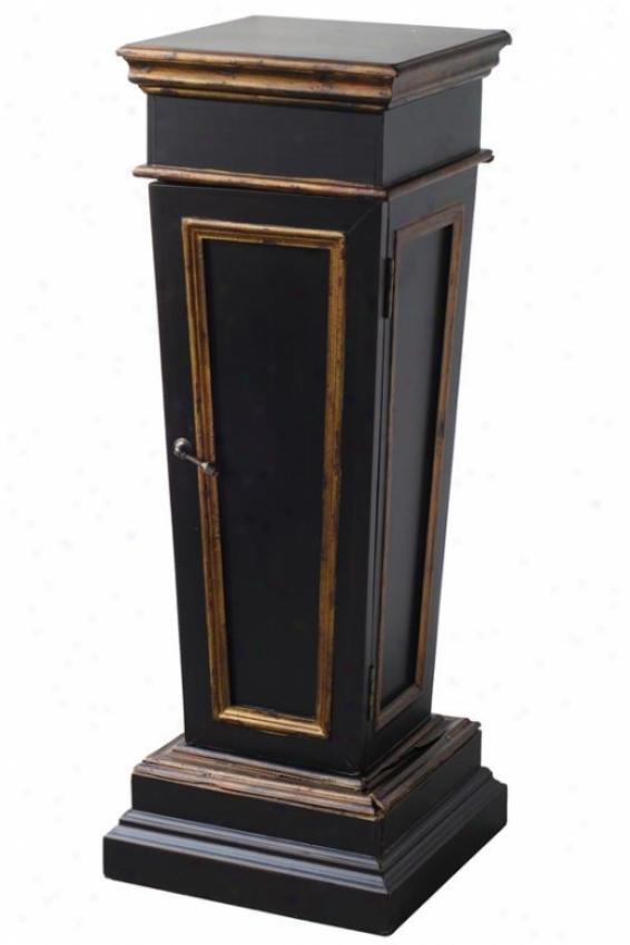 """""""bruce Pedestal - 14.5""""""""sqx43""""""""h, Black"""""""