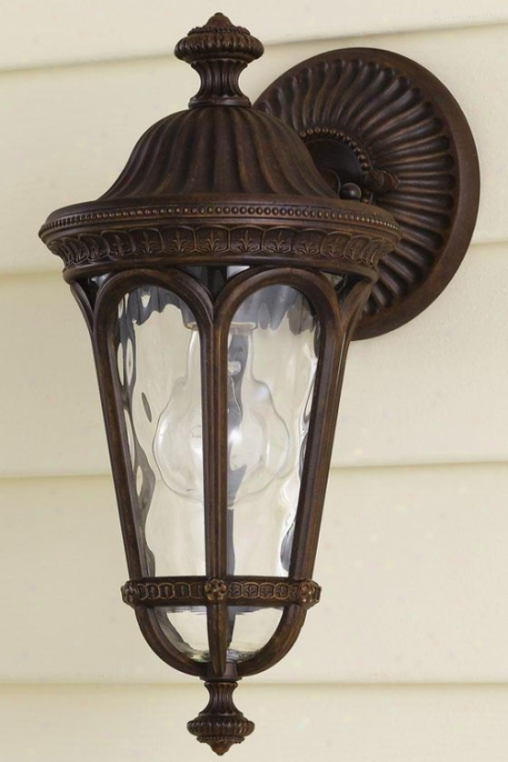 Buckingham Outdoor Wall Lantern - One Light, Brown Forest
