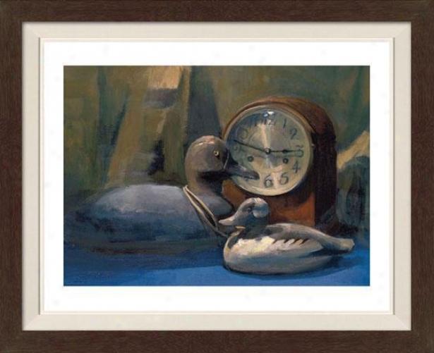 """""""bufflehead Framed Wall Art - 30""""""""hx36""""""""w, Fltd Espresso"""""""