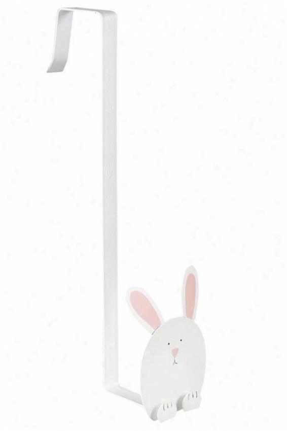 """bunny Wreath Holder - 12""""hx6""""w, White"""