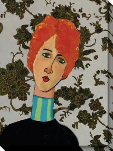 """burberry Redhead Canvas Wall Art - 36""""hx48""""w, Dismal"""