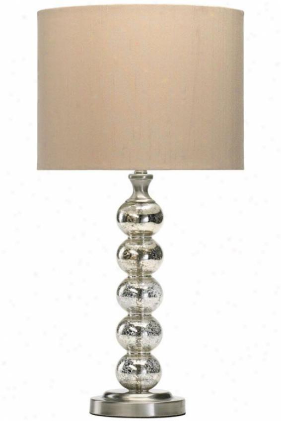 """burnish Table Lamp - 25.5""""h, Gold"""