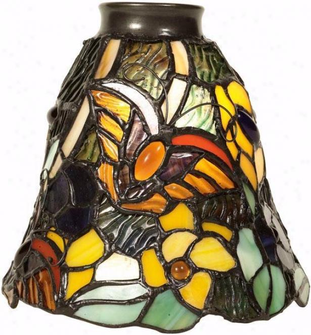 """""""butterflies Ii Fan Vanity Light Shade - 2.25"""""""" Neck, Butterflies"""""""