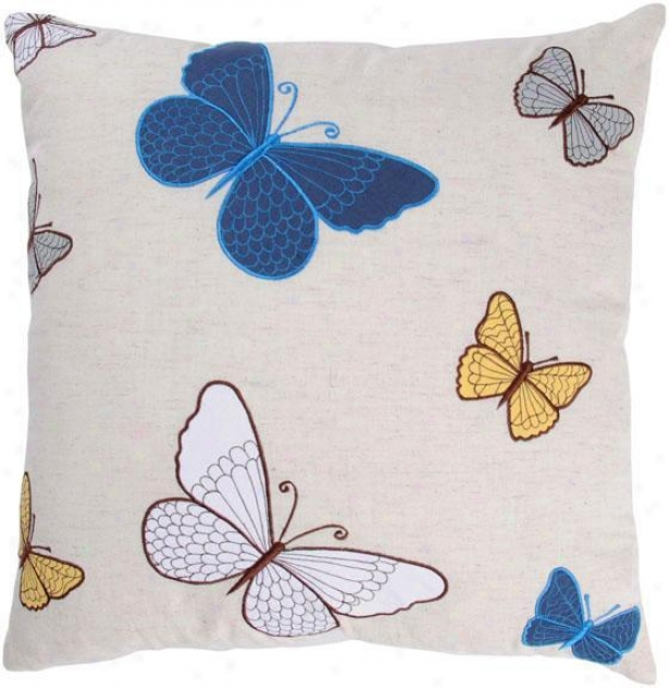 """butterflies Pillow - 18""""x18"""", Blue"""
